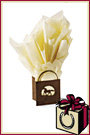 Horseshoe Gift Packaging Ivory Tissue