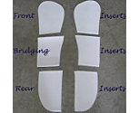 ThinLine Cotton Comfort Square Dressage Pad Bridging Inserts