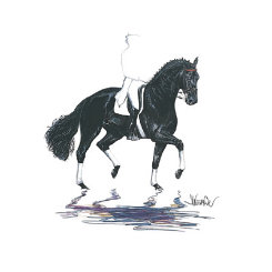 Baccara Dressage Art Print  by Jan Kuntz Best Price