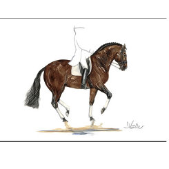 Belle Epoque  Dressage Art Print by Jan Kunster Best Price
