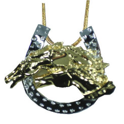 Exselle Drinkers of the Wind Horseshoe Pendant Best Price