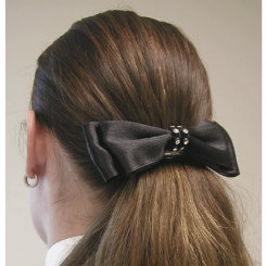 Diamond Hair Accessories Rhinestone Banded Satin Bow Best Price