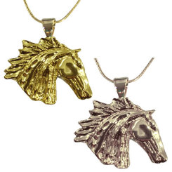 Exselle Wind Blown Horsehead Pendant Best Price