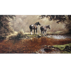 Autumn Days Draft Horse  Print by Frank Wright Best Price