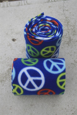Peace Love and Horses Blue Peace Sign Polo Wraps Best Price