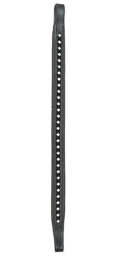 Henri de Rivel Black Velvet Square Jewel Browband