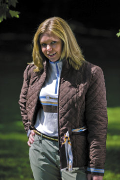 Equine Couture London Quilted Jacket w/Scarf
