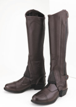 Tuffrider Adult Top Grain Half Chaps