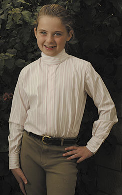 TuffRider Middleburg Long Sleeve Show Shirt-Girls Best Price