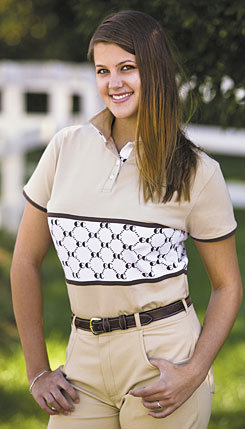 Equine Couture Tuscany Short Sleeve Polo Shirt