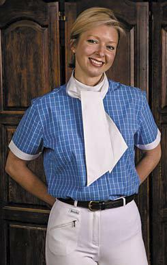 TuffRider Wellingtin Check Dressage Show Shirt w/Stock Tie Best Price