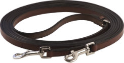 Henri de Rivel Leather Breastplate Draw Reins with Breastplate Snap Best Price