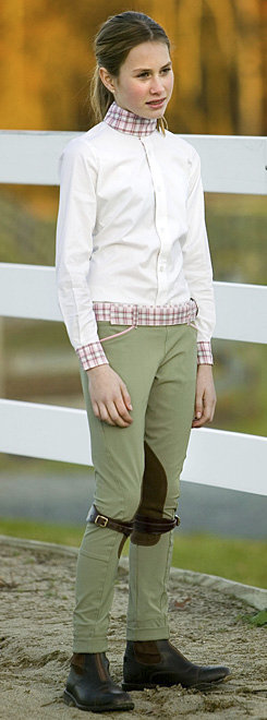 Equine Couture F3 Side Zip Jodhpurs<font color=#000080>-SIZE:  16  COLOR:  Beige with Pink Plaid</font> Best Price
