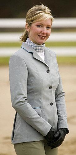 Equine Couture F3 CoolMax Show Coat           <font color=#000080> -SIZE:  18  COLOR:  Dove Gray/Blue</font> Best Price