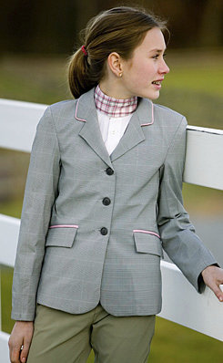 Equine Couture Child's F3 CoolMax Show Coat           <font color=#000080> Color: Dove Gray/Pink Size: 16</font> Best Price