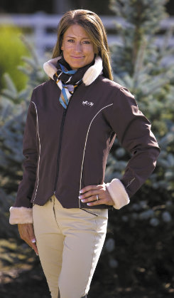 Equine Couture Ladies Geneva Soft Shell Fur Jacket Best Price