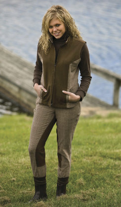 TuffRider Ladies EcoGreen Plaid Full Seat Riding Breeches
