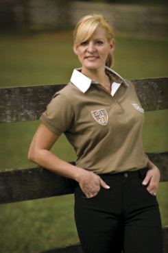 Jaipur Polo Company Ladies Long Sleeve Classic Polo Shirt