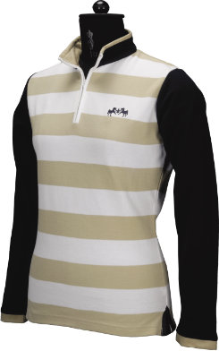 Equine Couture Ladies Schooner Long Sleeve Polo Shirt