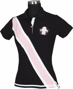 Equine Couture Ladies Bermuda Short Sleeved Polo Shirt Best Price