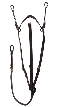Henri de Rivel Pro Flat Breastplate Martingale with Adjustable Neck Strap Best Price