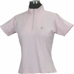 Tuffrider Ladies Indio Mock Zip Short Sleeved Shirt