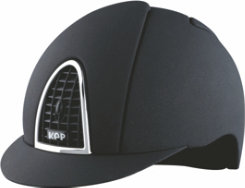 KEP Italia Mica Riding Helmet with Black Grid