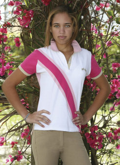 Equine Couture Ladies Short Sleeve Oceanic Polo Shirt Best Price