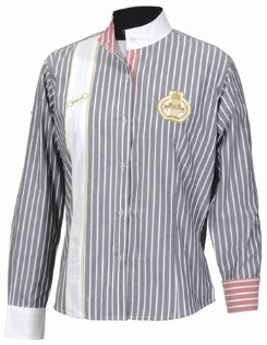 Equine Couture Ladies Ascot Striped Show Shirt Best Price