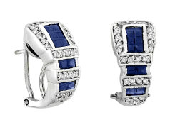 Kelly Herd  Blue Buckle Earrings Best Price