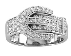 Kelly Herd Pave Buckle Ring Best Price