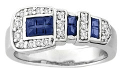 Kelly Herd Blue Buckle Ring Best Price