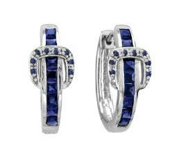 Kelly Herd Channel Set Buckle Earrings Best Price