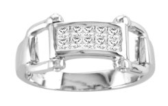 Kelly Herd CZ Bit Ring