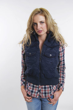Cowgirl Up Quilted Vest<font color=#000080>- SIZE:  Large  COLOR:  Navy</font> Best Price