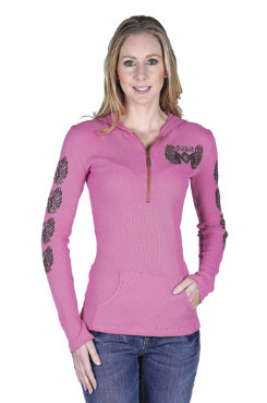 Adiktd Ladies Thermal Hoodie<font color=#000080>- SIZE:  Large  COLOR:  Pink</font> Best Price