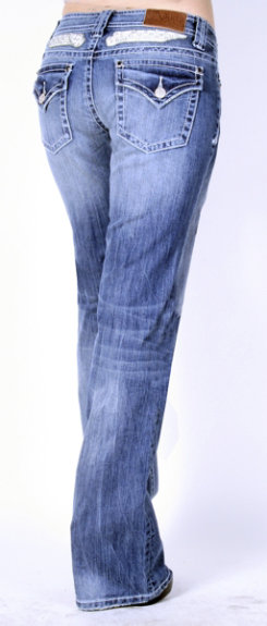 Adiktd Ladies Winged Riser Jeans<font color=#000080>- SIZE:  2 Regular  COLOR:  Lt Stonewash</font> Best Price