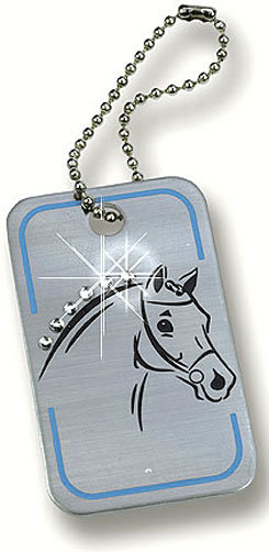 Kelley and Co Horse Tag Keychain w/ Rhinestones Best Price