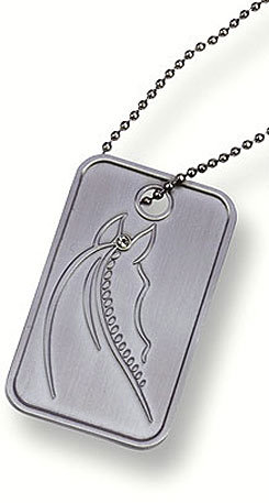 Kelley & Co Horse Tag w/Rhinestones Necklace