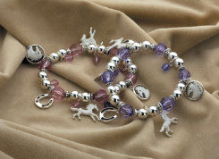 KY White Horse Bracelet w/Charms Best Price