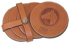LILO Round Leather Coasters Best Price