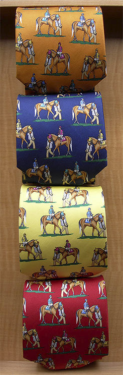 Lilo Mounted Up Equestrian Design Silk Tie Picture