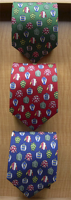 Lilo Jockey Silks Equestrian Design Silk Tie Picture