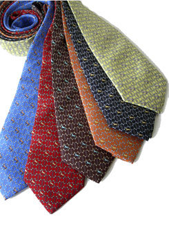 Lilo Men's Links And Horses Equestrian Design Silk Tie Picture