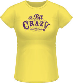 Lucky Bucky Ladies A Bit Crazy Tee Shirt Best Price