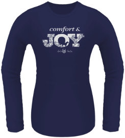 Lucky Bucky Ladies Comfort & Joy Long Sleeved Tee Shirt Picture