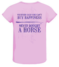 Lucky Bucky Ladies  Buy Happiness Tee Shirt Best Price