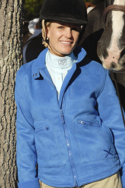 Cavalero by Moxie Hanging Around the Stable Jacket.<font color=#000080>- SIZE:  XXL  COLOR:  Navy/Camel</font> Best Price