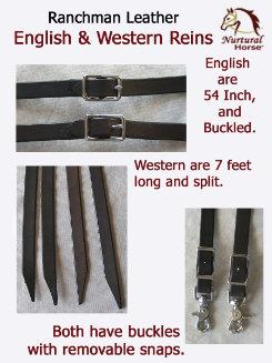Nurtural Horse Ranchman English Leather Reins Best Price