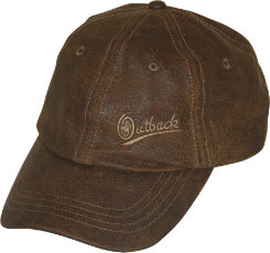 Outback Trading Leather Slugger Cap